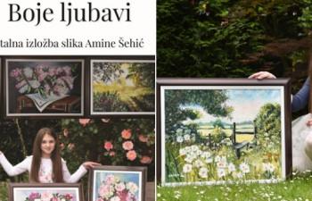 Boje ljubavi: Prva samostalna izložba slika Amine Šehić za pomoć djeci oboljeloj od raka
